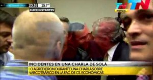 Trataron de agredir a Felipe Solá en una charla por narcotráfico